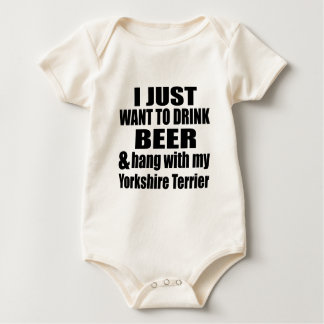 Hang With My Yorkshire Terrier Baby Bodysuit