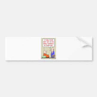 hang yourself cell attorney bumper sticker