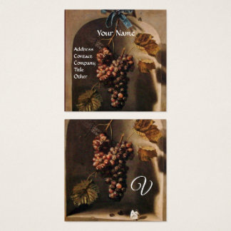 HANGED GRAPES RUSTIC VINEYARD,WINERY,VITICULTURE SQUARE BUSINESS CARD