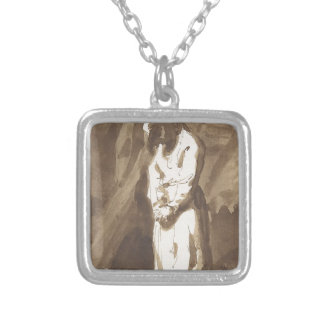 Hanged Man Silver Plated Necklace