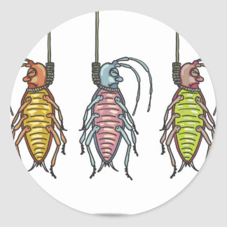Hanged Roaches Sketch Classic Round Sticker