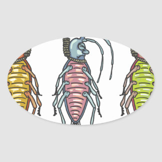 Hanged Roaches Sketch Oval Sticker