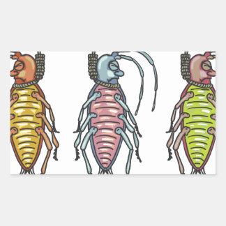 Hanged Roaches Sketch Rectangular Sticker