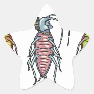 Hanged Roaches Sketch Star Sticker
