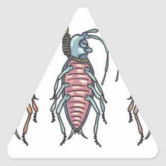 Hanged Roaches Sketch Triangle Sticker