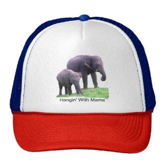 Hangin' With Mama, elephants, Trucker Hat