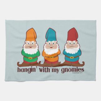 Hangin' With My Gnomies Tea Towel