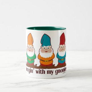 Hangin' With My Gnomies Two-Tone Mug