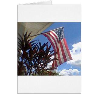 Hanging American Flag #3 Greeting Card