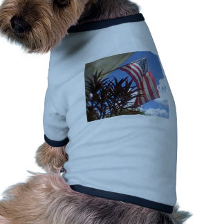 Hanging American Flag #3 Doggie Tee
