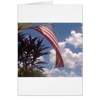 Hanging American Flag Card
