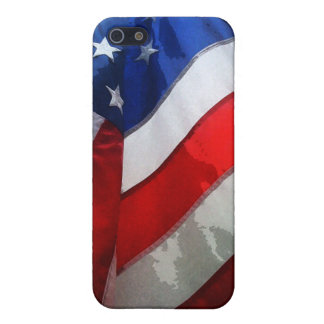 Hanging American Flag Watercolor iPhone 5 Case