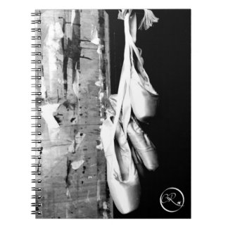 Hanging ballet shoes spiral note book