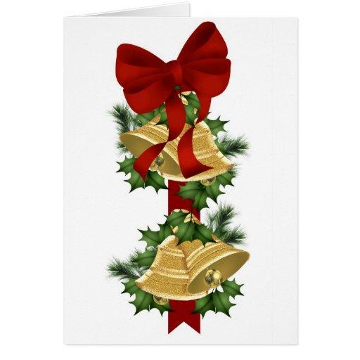 Hanging Bells Christmas Card