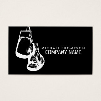 Hanging Boxing Gloves, Boxing Business Card