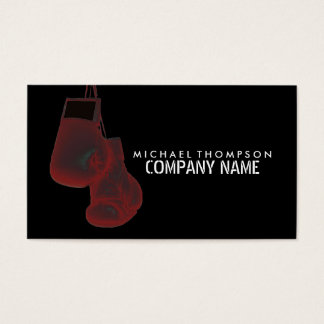 Hanging Boxing Gloves, Solarise Effect, Boxing Business Card