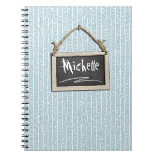 Hanging Chalkboard Blue ID397 Notebook