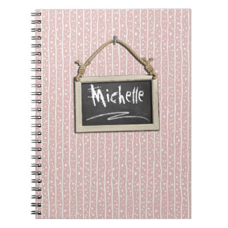 Hanging Chalkboard Pink ID397 Notebook