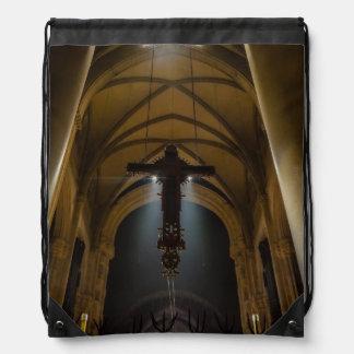 Hanging Crucifix Drawstring Bag