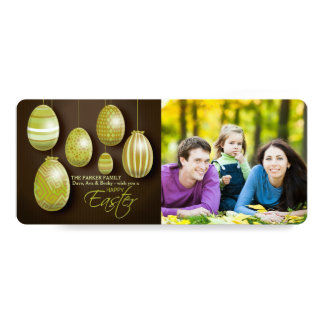Hanging Easter Eggs Photo Card 10 Cm X 24 Cm Invitation Card