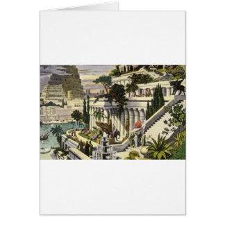 Hanging Gardens of Babylon by Maerten van Heemsker Card