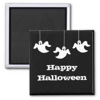 Hanging Ghosts Halloween Magnet, Black