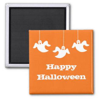 Hanging Ghosts Halloween Magnet, Orange