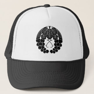 Hanging grapes trucker hat