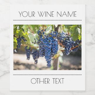 Hanging Grapes Wine Bottle Label