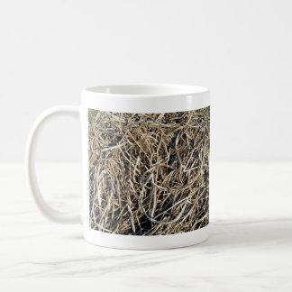 Hanging green leafy branch basic white mug