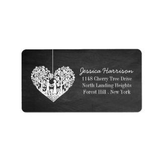Hanging Heart Tree Chalkboard Wedding Collection Address Label