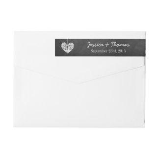 Hanging Heart Tree Chalkboard Wedding Collection Wraparound Return Address Label