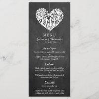Hanging Heart Tree Chalkboard Wedding Menu