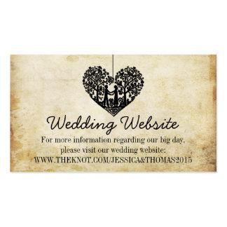 Hanging Heart Tree Vintage Wedding Website Pack Of Standard Business Cards
