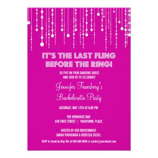 Hanging Lights Bachelorette Party Invitation
