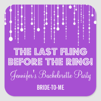 Hanging Lights Bachelorette Party Sticker