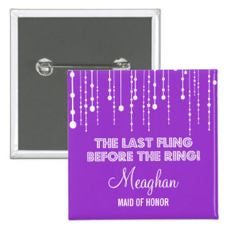 Hanging Lights Bachelorette Party Title Button