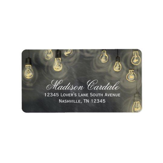 Hanging Lights Chalkboard Return Address Labels