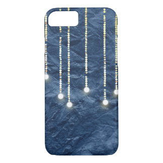 hanging lights glowing on navy blue texture iPhone 8/7 case