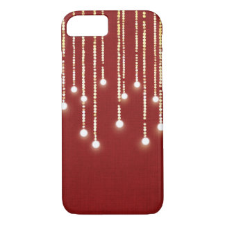 hanging lights glowing on red iPhone 8/7 case
