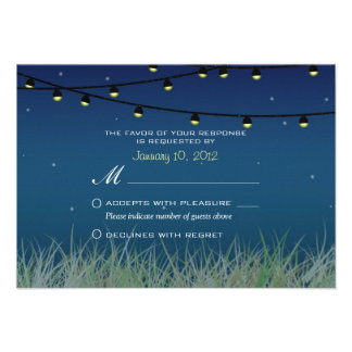 Hanging Lights Night Under the Stars RSVP Custom Invites