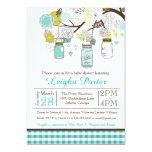 Hanging Mason Jars Baby or Bridal Shower Invite