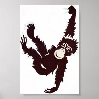 Hanging Monkey Poster