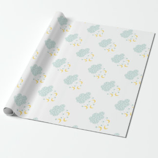Hanging Moon & Stars Wrapping Paper