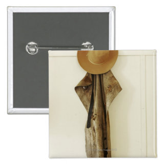 Hanging on farm wall pinback button