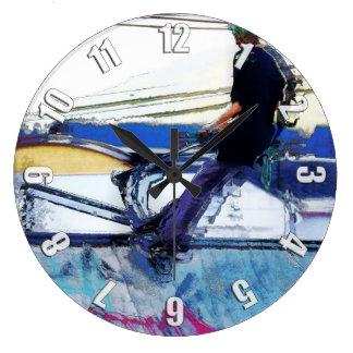 Hanging On  -  Stunt Scooter Artwork Large Clock