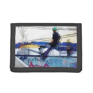 Hanging On  -  Stunt Scooter Artwork Tri-fold Wallet