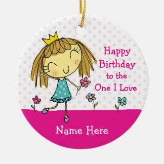 ♥ HANGING ORNAMENT ♥ One I Love princess birthday