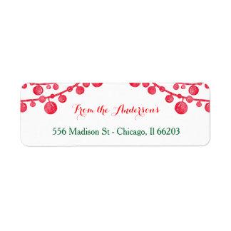 Hanging Ornaments Christmas Address Label