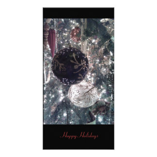 Hanging Ornaments on Christmas Tree Photo Card